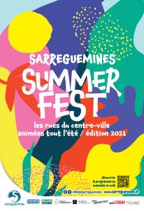 Affiche du Summerfest 2021 de Sarreguemines