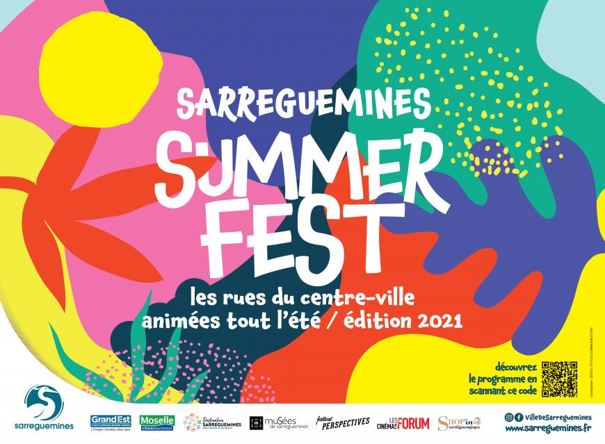 Grande affiche du Summerfest 2021 de Sarreguemines